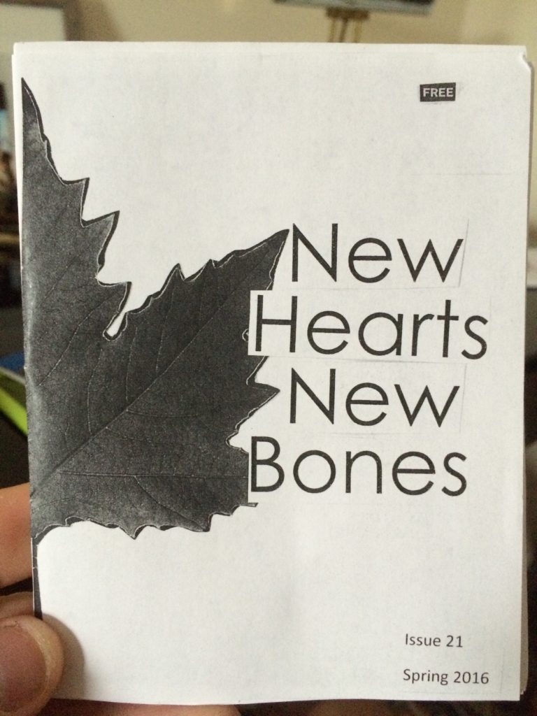 Stephanie from Lancaster Ohio sent her latest issue of New Hearts New Bones on Cheering and Waving Press. I had a feeling I'd like her just based on the name - the zine is great and hopefully we'll get a chance to meet at a zine swap in August.